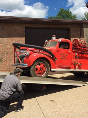A 1946 Chevrolet fire truck formerly belonging to the Ohio Township Fire Department is for sale on  Craigslist.