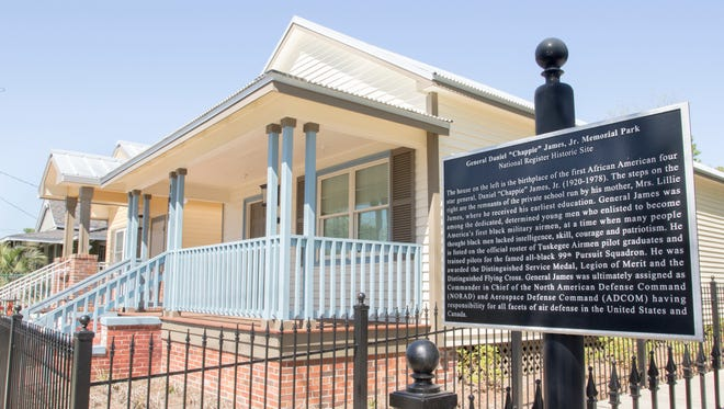 """The """"Chappie"""" James house in Pensacola on Wednesday, April 4, 2018.  Daniel """"Chappie"""" James, Jr. was America's first African-American four-star general (USAF)."""
