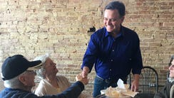 GOP Senate candidate Luke Messer campaigns at the Terre