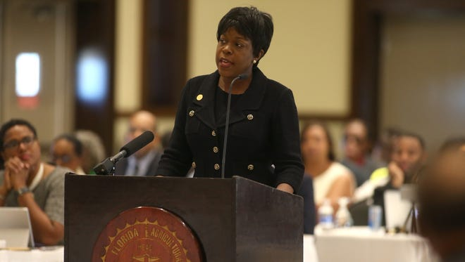 FAMU President Elmira Magnum is voted out, effective immediately, by the University's Board of Trustees during a meeting on the school's campus Thursday, Sept. 15, 2016.