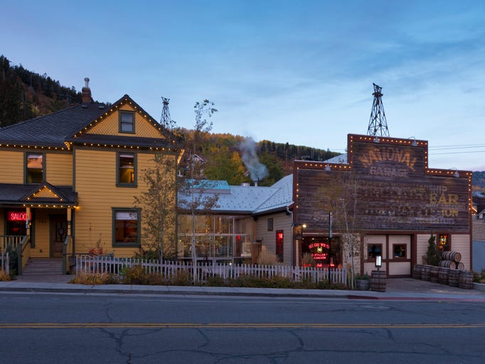 Two historic buildings just a block off Main Street in Park City were connected by the distillery itself, in the middle.