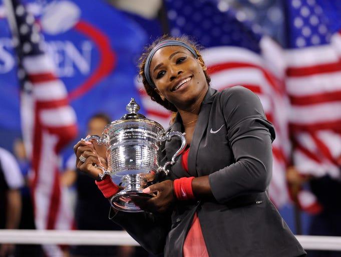 Serena Williams won the U.S. Open, her 17th grand slam title, on Sunday, defeating Victoria Azarenka in three sets.