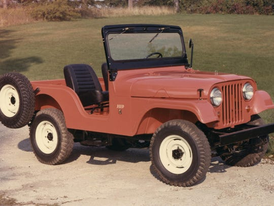 Introduced in 1954, the CJ-5 was influenced by the military Jeep used in the Korean War with denser, heavier sheet metal and the option to seat four, as well as larger headlights and a tighter grille.