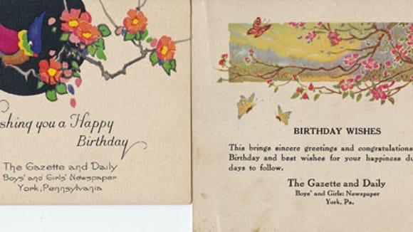 Boys' and Girls' Newspaper Birthday Cards