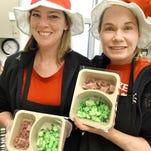 Green eggs, ham turn school lunch into Dr. Seuss party