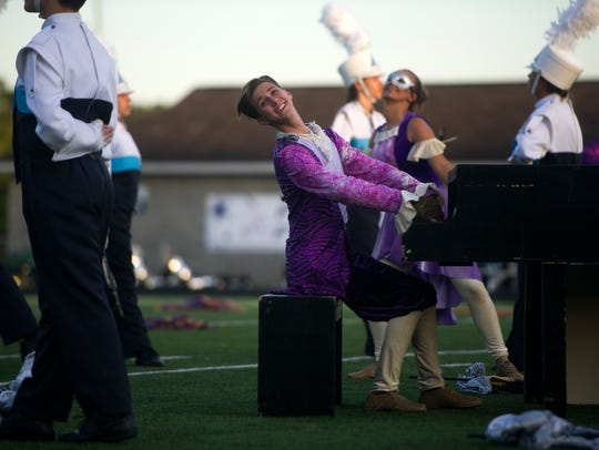 A member of the Hardin Valley marching band plays the