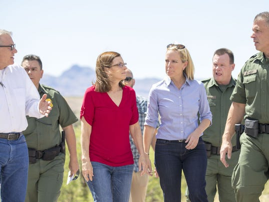 Kirstjen Nielsen, Martha McSally visit border