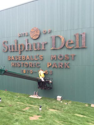 The final tin numeral to honor Sulphur Dell at First Tennessee Park.