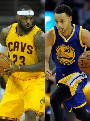 Four-time NBA MVP LeBron James and the 2015 NBA MVP Stephen Curry will face off in this year's NBA Finals.