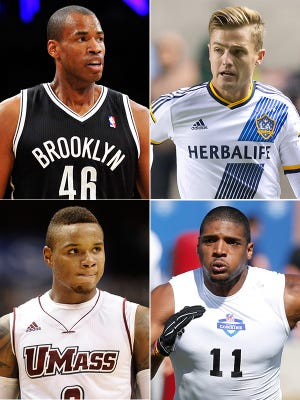 Jason Collins, Robbie Rogers, Derrick Gordon and Michael Sam are four of the most prominent gay athletes to come out.