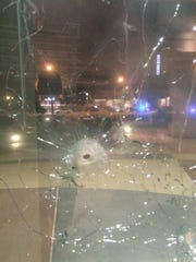 An attack on the Dallas police headquarters left bullet