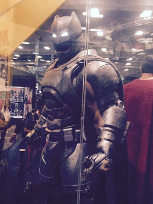 Batman's armor from the upcoming Batman v. Superman: Dawn of Justice.