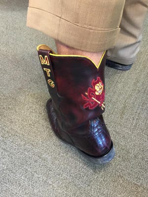 Todd Graham wore some ASU boots to ESPN.