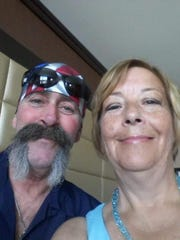 Mark and Denise McCubbin, of Clyde, have battled her lymphoma, his Hepatitis C and now his brain tumor together.