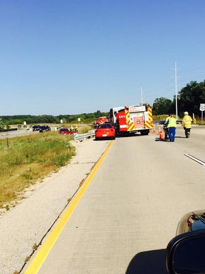 76-year-old Leslyn Shires died from the injuries received after her car struck a median guardrail on Monday.