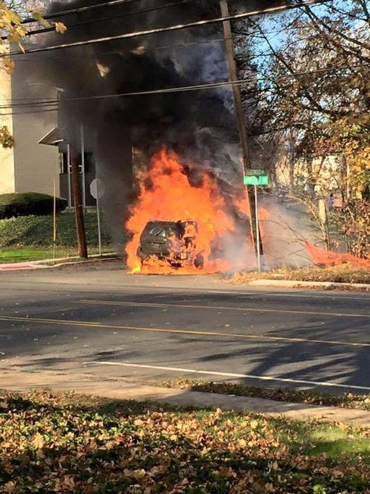 North Brunswick car fire