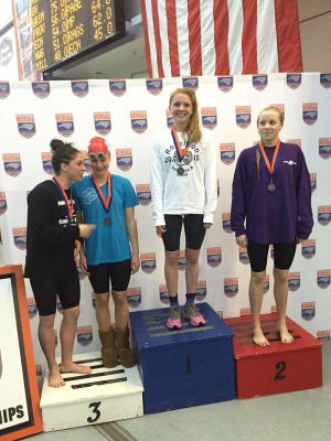 Roberson's Mary-O Soule won a NCHSAA 4-A swimming championship last season.