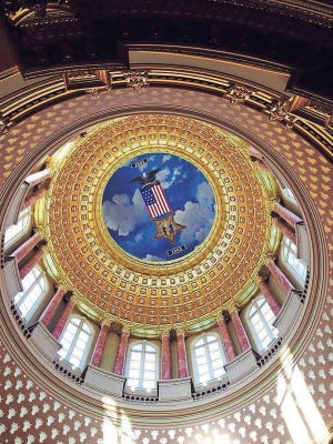 The State Capitol Dome.