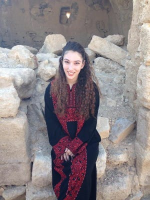 Rebecca Liebson, a Stony Brook University student and White Plains resident, during a trip to Jordan.