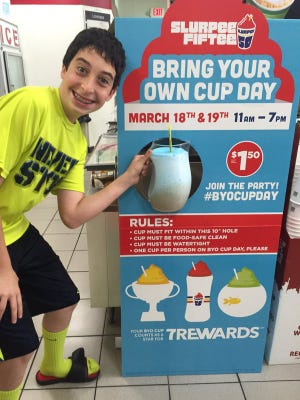 Fill it up! 7-Eleven's Bring Your Own Cup Day is  back March 18 and 19.