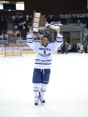 Stephen Buco was one of the stars in the Ice Flyers championship run last season. He became the seventh player from that team to re-sign this year.