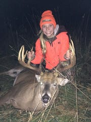 12 year old Lybie Rosenthal, shot this 12 Point Buck the Opening day of the 2016 Youth Hunting season. Hunting in Waupaca County with her father Willie Rosenthal.