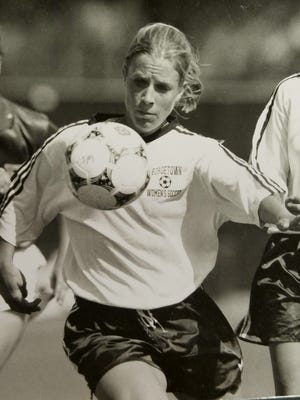 Christina Sonsire was the career leader in goals, assists and points when she graduated from Georgetown in 1998.