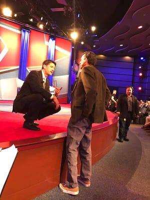 Jeff Jeans of Sedona talks with U.S. Rep. Paul Ryan.