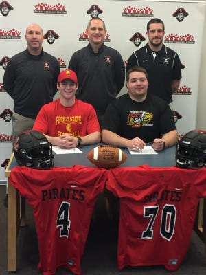 Pinckney's Wes Smith (left) and Adam Sieler (right) will both play for Ferris State University in the fall.