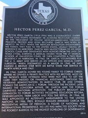 Text of the Dr. Hector P. Garcia historical marker