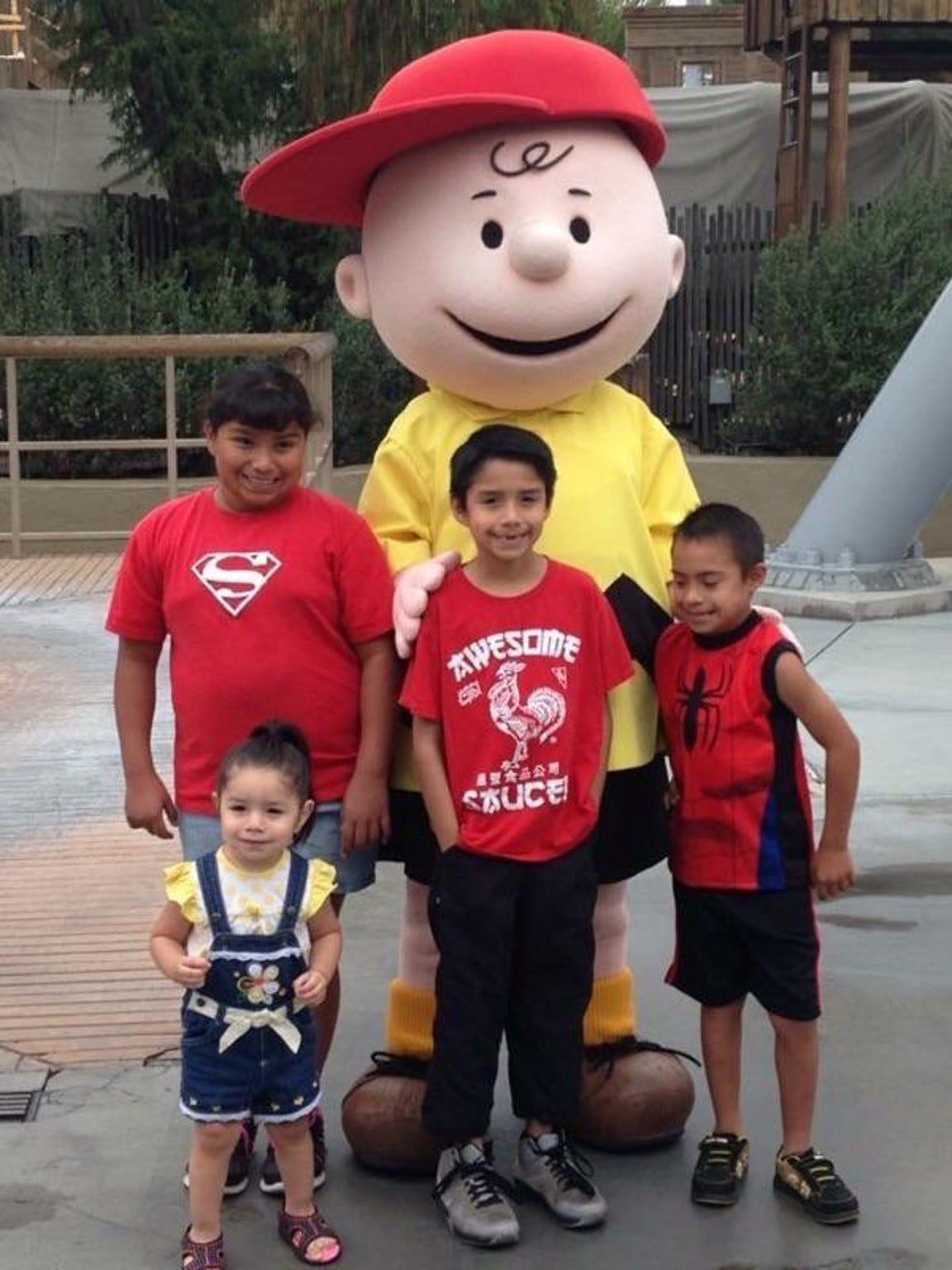 The Guajardo Family -- Jalissa, 11; Kathryn, 2; Isaac, Jr., 8; Ruben, 9.