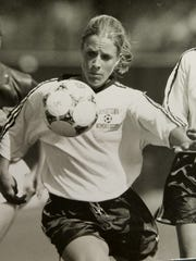 Christina Sonsire was the career leader in goals, assists