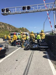 The Fillmore and Ventura County fire departments responded to an injury motorcycle crash Saturday in Fillmore.