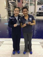 Sharae Zheng, left, and Jian Li You were named the