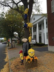 This Minion scarecrow creation, from a previous Fairport Scarecrow Festival, was one creative display.