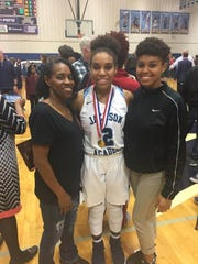 Etonne, De'ja and Classie Bradford. Etonne Bradford died Oct. 23, and De'ja Bradford scored 32 points Monday hours after her funeral.
