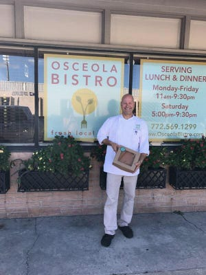 Chef Chris Bireley of Osceola Bistro supports Pies for a Purpose.