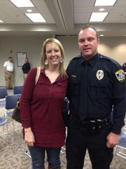 Chelsea and Tim Putney, a Wichita Falls Police officer injured in the line of duty on July 11, 2017.