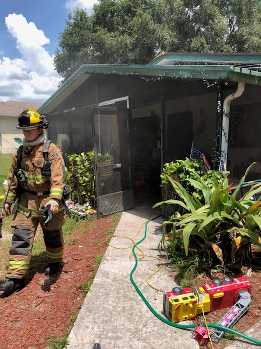 Fire blazes through Fort Pierce home