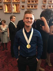 Riley Young was one of eight finalists in the Jimmy Awards and the winner of a $3,000 scholarship.