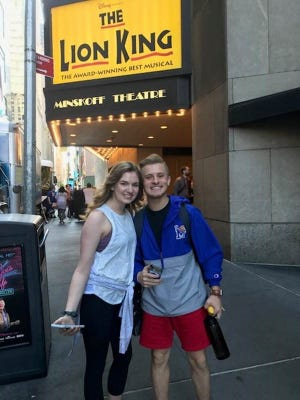 Amelia Beckham and Riley Young took part in the 10th annual Jimmy Awards in New York City. Both won scholarships.