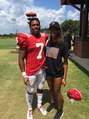 Colts running back Nyheim Hines and his twin sister, Nyah, are 21 now.