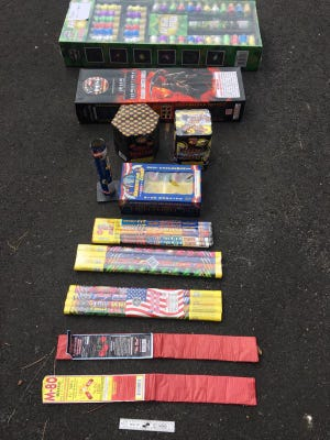 Stolen fireworks from Fantasy Fireworks were recovered after the arrest of five Massachusetts teens.