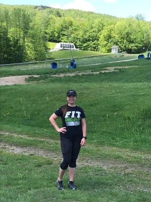 Chrissy Semler hiked either Blue Hills and Okemo Mountain in Vermont seven days in a row to help raise money for the family of one of her former softball pitching students, Tori Young.