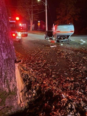 One person was taken to Rhode Island Hospital with serious injuries Monday night, Nov. 9, following a crash on Tremont Street, according to fire officials.