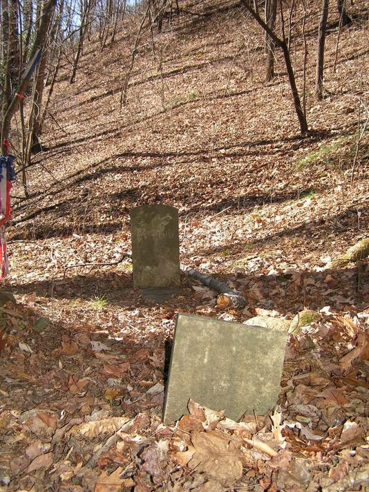 Soldier supposedly John Carver Head and footstones, photo by Joe Standaert.jpg