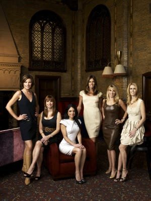 THE REAL HOUSEWIVES OF NEW YORK CITY -- Pictured: (l-r) Luann De Lesseps, Jill Zarin, Bethenny Frankel, Kelly Bensimon, Ramona Singer,  Alex McCord -- Bravo Photo: Andrew Eccles