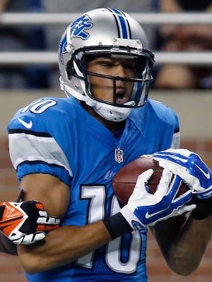 Lions wide receiver Corey Fuller