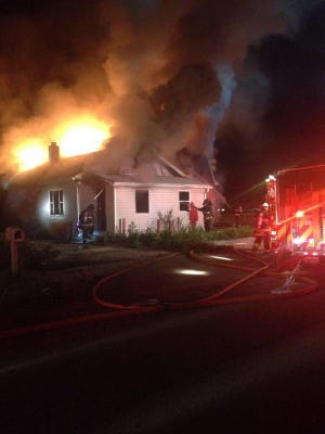 This fire in the 600 block of South Fleming Street early Saturday morning has been deemed suspicious, according to a news release from the Wayne Township Fire Department.