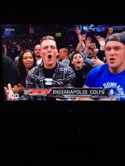 Indianapolis Colts punter Pat McAfee and long snapper Matt Overton, enjoy WWE Monday Night Raw.